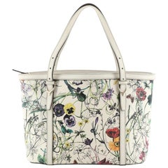 Nice Tote Floral Printed Leather Small