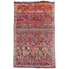 Nice Tribal Moroccan Woven Flat Rug
