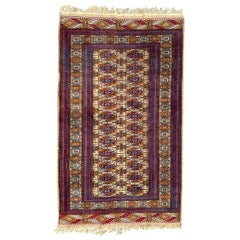 Nice Vintage Afghan Boukhara Design Rug