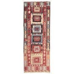 Nice Vintage Anatolian Turkish Kilim