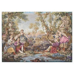 Nice Vintage Aubusson Style Jaquar Tapestry
