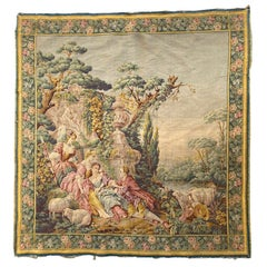 Nice Vintage Aubusson Style Tapestry