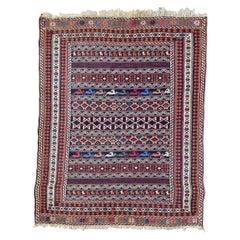 Nice Vintage Azerbaïdjan Soumak Kilim Rug