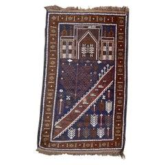 Nice Vintage Baluch Afghan Rug
