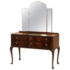 Nice Vintage Beithcraft Furniture Mahogany Dressing Table Part of Lovely Suite