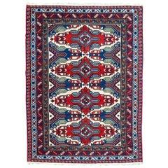 Nice Vintage Caucasian Soumak Rug