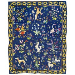 Nice Vintage French Needlepoint Tapestry