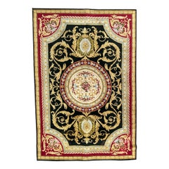 Nice Vintage French Savonnerie Style Rug
