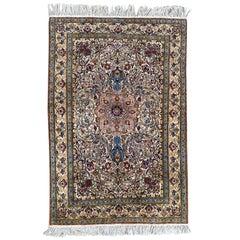 Nice Vintage Indian Punjab Silk Rug