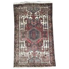 Nice Vintage Kurdish Hamadan Rug
