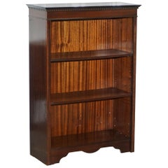 Nice Vintage Mahogany Dwarf Open Bookcase Adjustable Shelves