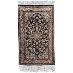 Nice Vintage Silk Indian Rug