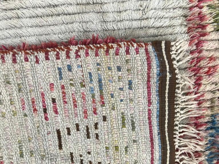 Nice Vintage Swedish Tapestry Design Runner For Sale 5
