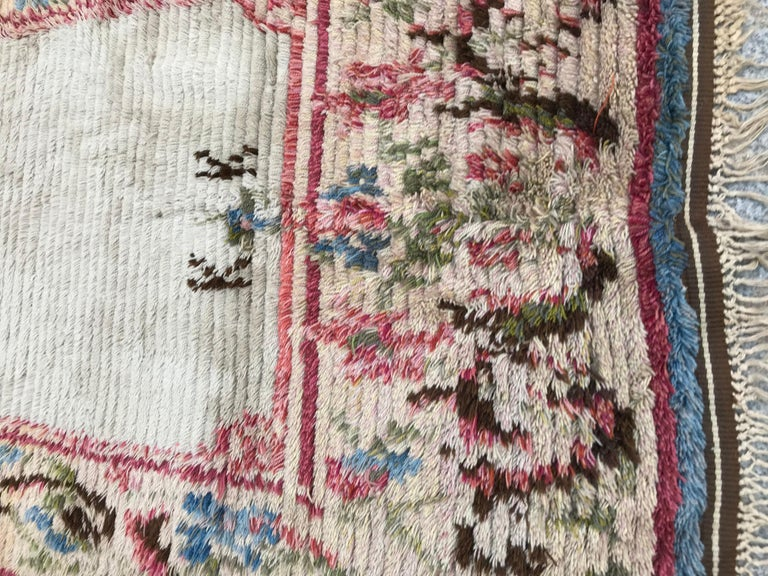 Scandinavian Nice Vintage Swedish Tapestry Design Runner For Sale