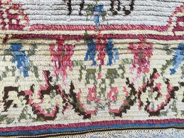 Nice Vintage Swedish Tapestry Design Runner For Sale 1