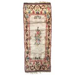 Nice Vintage Swedish Tapestry Design Runner