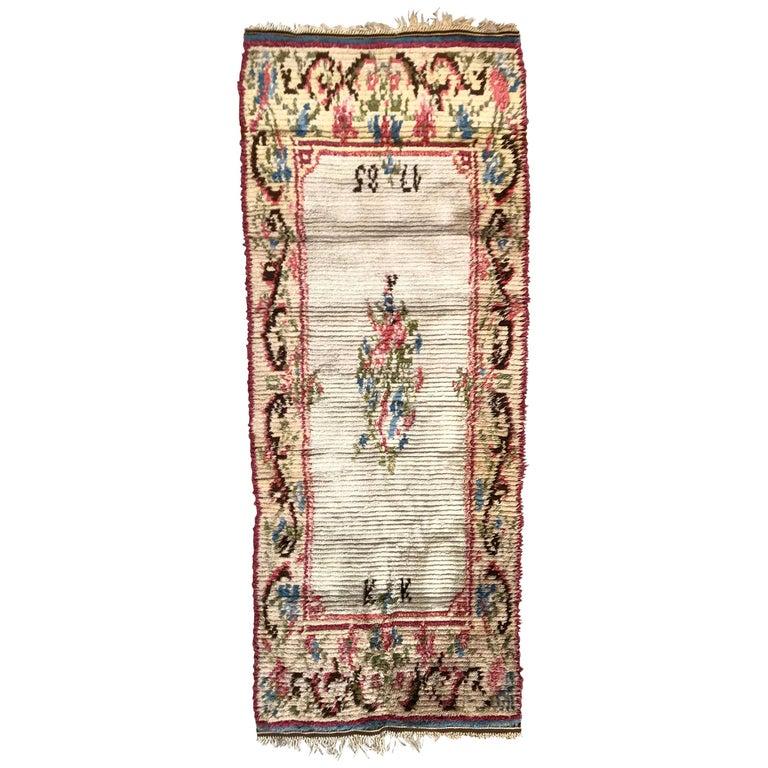 Nice Vintage Swedish Tapestry Design Runner For Sale