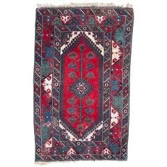Nice Vintage Turkish Konya Rug