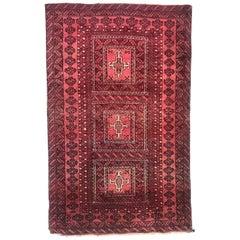 Nice Vintage Turkmen Baluch Rug