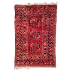 Nice Vintage Turkmen Ersari Rug