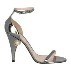 Nichloas Kirkwood Woman Sandals Silver Leather IT 38.5