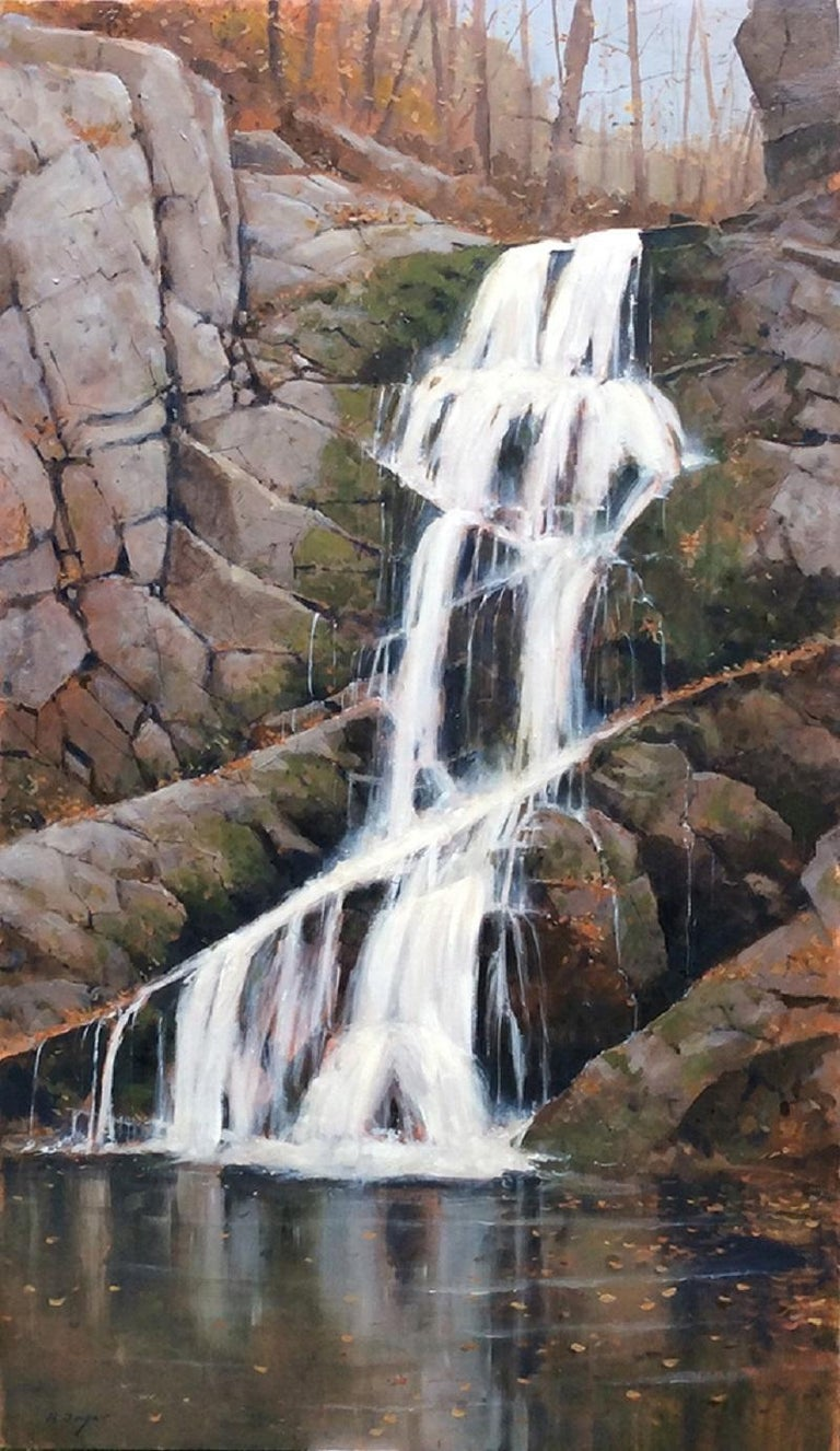 Nicholas Berger Landscape Painting - Indian Brook Falls