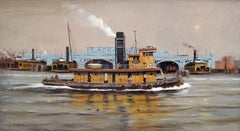 Lachawanna Steam Tug Madison, New York Harbor, 1956