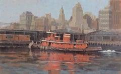 "McAllister Tug ""Britannia"" in the Hudson River, New York"