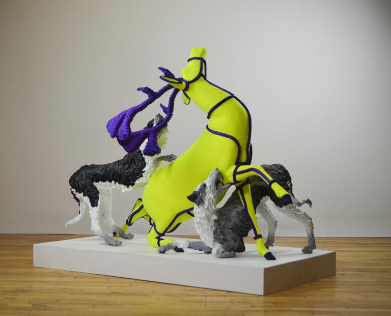 Nicholas Crombach Figurative Sculpture - Fetch