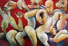 The Celebration by Nicholas Broughton, Acrylic and Oil Carnival Painting