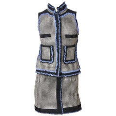 Nicholas Ghesquière for Balenciaga Houndstooth Suit with Fringe Detail