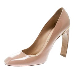 Nicholas Kirkwood Beige Patent Leather Square Toe Pumps Size 40.5