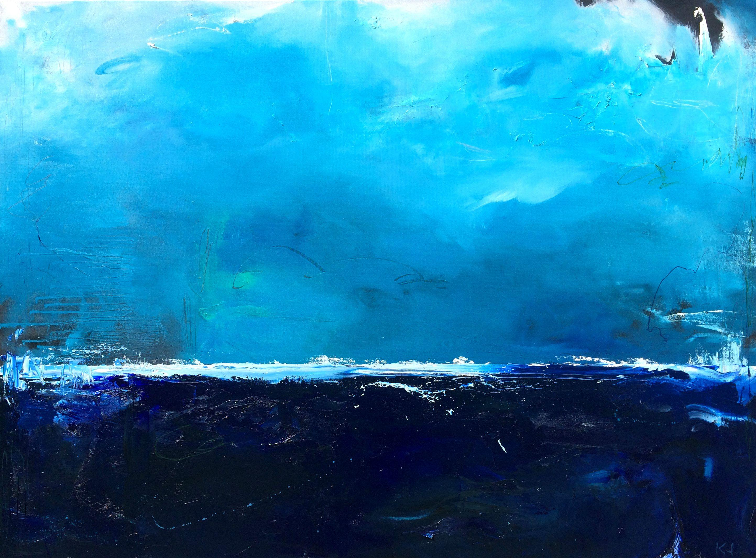 Beneath the Surf, Painting, Oil on Canvas
