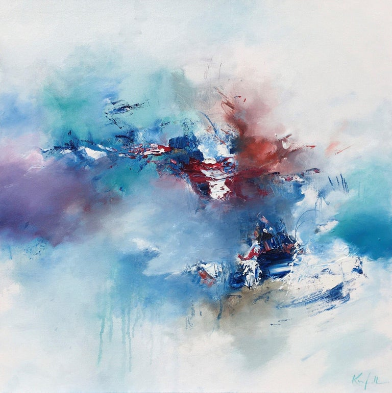 Nicholas Kriefall Abstract Painting - Surge & Swell, Painting, Oil on Canvas