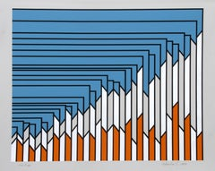 Facade, Pop Print by Nicholas Krushenick