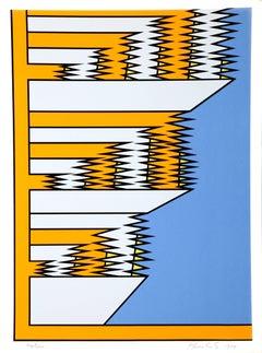 Kindergarten, Pop Geometric Abstract Silkscreen by Krushenick
