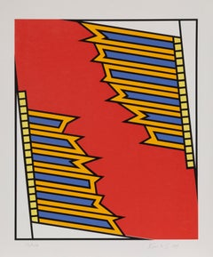 Silver Liner, Pop Abstract Serigraph by Nicholas Krushenick