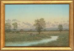 Nicholas Mace (b.1949) - 20th Century Oil, River Landscape with Cattle