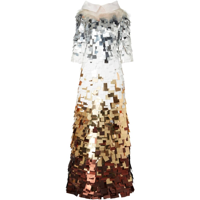 Nicholas Oakwell, haute couture gold & silver gown, Spring/Summer 2012