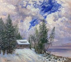 Cobb House in Winter, Glacier National Park, Montana