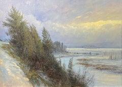 Egan Slough in Winter Light, Montana