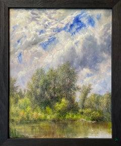 Stillness, Cottonwoods on Pond, Montana