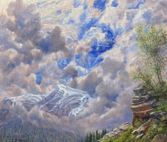 View of Heavens Peak, Glacier National Park, Montana