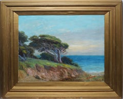 Antique Impressionist 19th Century Coastal Landscape Painting, Nicholas R Brewer