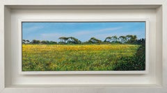 Buttercup Fields English Landscape Painting by Contemporary Photorealist Artist