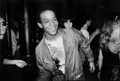 BASQUIAT Dancing at The Mudd Club, 1979 (Basquiat Boom For Real photograph)