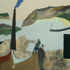 Fishermen - Contemporary - 21st century - harbour scene