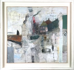Nicholas Turner Harbour Abstract, 2011 landscape oil painting