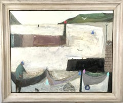 Nicholas Turner Man with Creels and Birds landscape oil painting