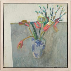 Nicholas Turner Still Life with Roses 2020 oil painting